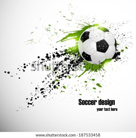 Soccer deign. Design for brazil soccer  championship Foto stock ©