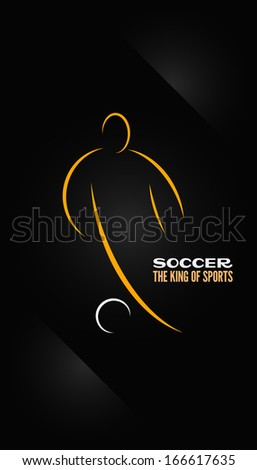 soccer emblem symbol design background