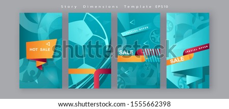 Soccer European championship 2020 Abstract Turquoise background soccer pattern Football Poster Europe Champion League award cup, Soccer ball Winner world WIN Finale Game trend Flash Sale banners set