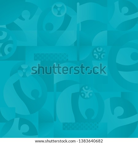 Soccer European championship. 2020 Abstract Turquoise background soccer seamless pattern Football. Poster Europe Champion League award cup, Soccer ball, Winner, world WIN Finale Game trend Wallpaper