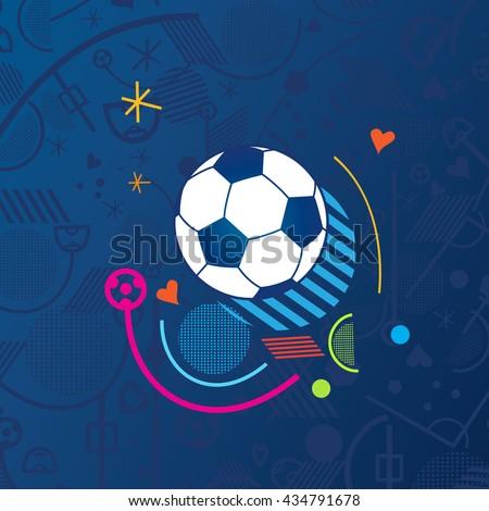 Soccer European championship France. 2016-19 Soccer Abstract blue background soccer pattern Football. Vector poster. Europe Champion League award, Soccer Winner, world WIN, Finale Game Wallpaper 2018 - Shutterstock ID 434791678