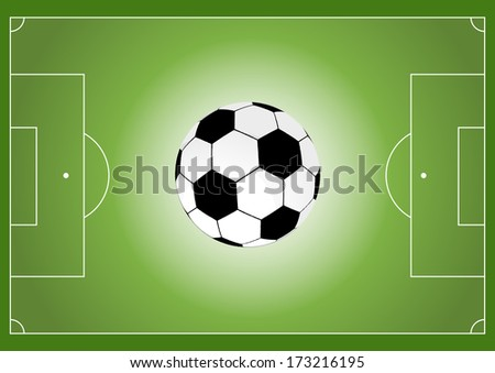 Soccer field and soccer ball,vector