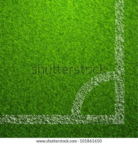 Grass Soccer Field Vector Soccer Field Corner Vector