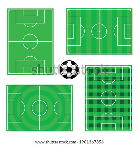 Soccer field designs and ball vector  Stock photo ©