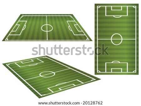 Soccer field in 3 different aspect