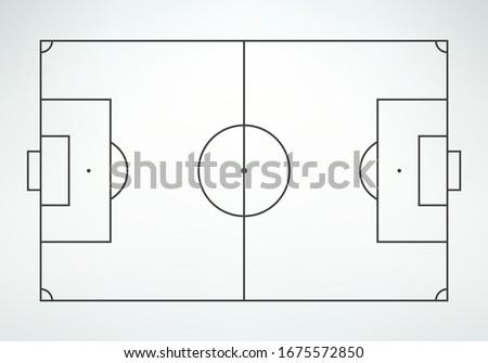 soccer field in line style