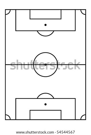 Soccer Field, Right Proportion And Field Measures. Vector. - 54544567 ...