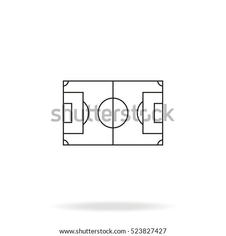 soccer field vector icon