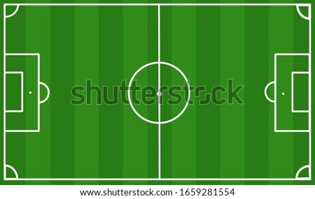 Soccer field vector with white line, vector design for computer graphic and mobile