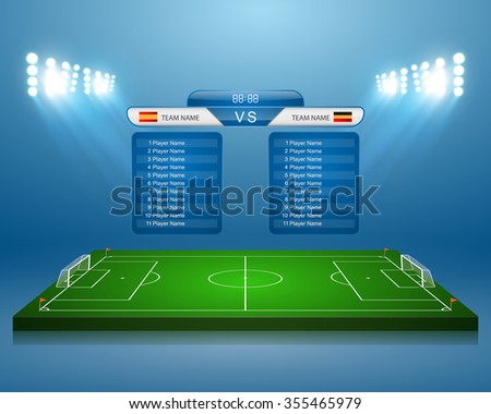 soccer field with scoreboard