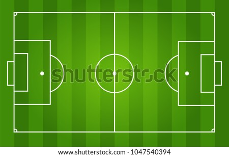 soccer field with white