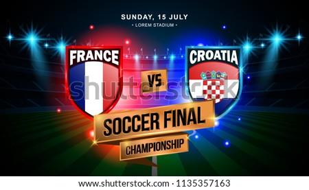 soccer final match between