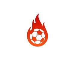 Soccer Fire Logo Design Element