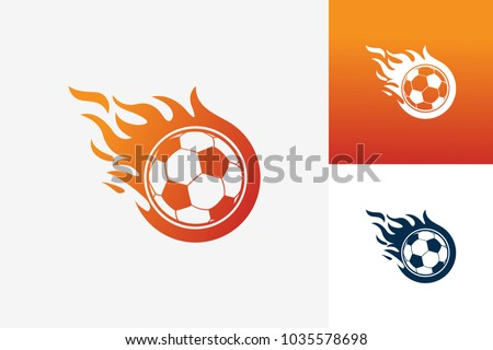 soccer fire logo template