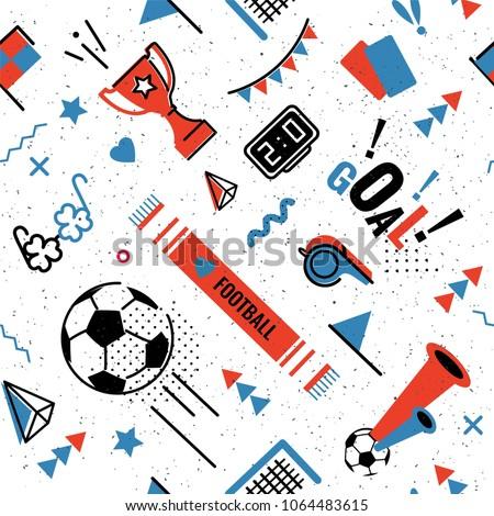 soccer football abstract