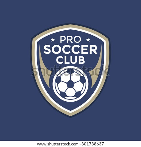 Soccer football badge logo,vector