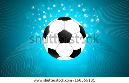 soccer, football ball with abstract background