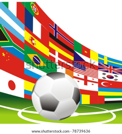 soccer football flags vector #78739636