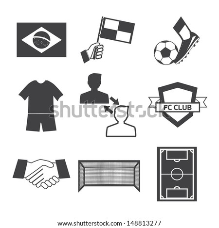 Soccer football icons vector eps10