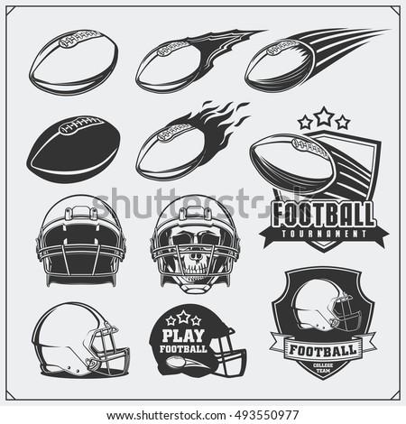 soccer football labels  emblems