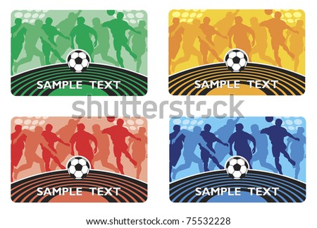 Soccer football player. card