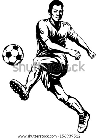 soccer football player in