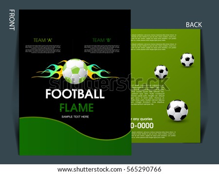 soccer tournament game poster flyer design download free vector