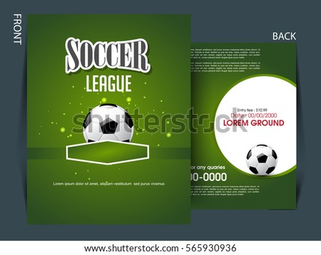 Football Game Event Tournament Invitation Design Template Download