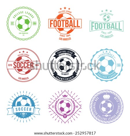 soccer football typography