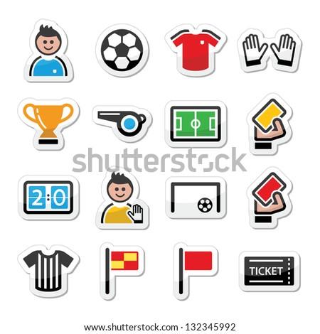 Soccer / football vector icons set