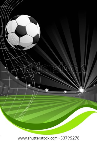 soccer game background with space for text