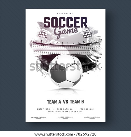 soccer game flyer or poster