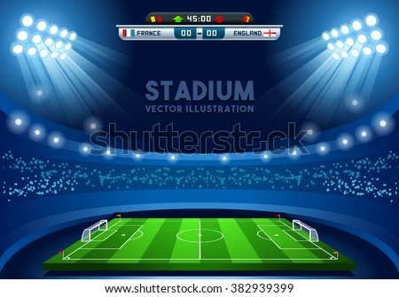 soccer game vector stadium