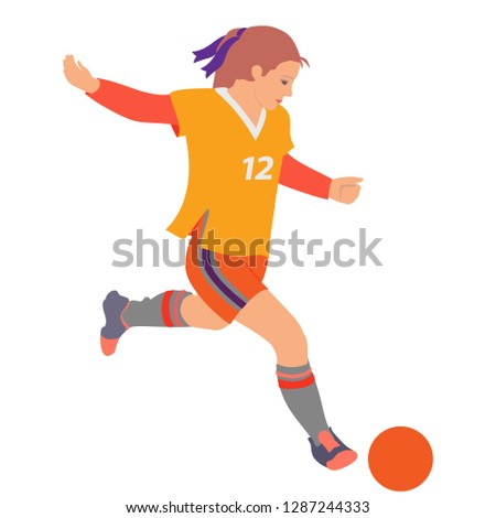 soccer girl young woman