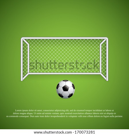 Soccer goal and ball.Vector