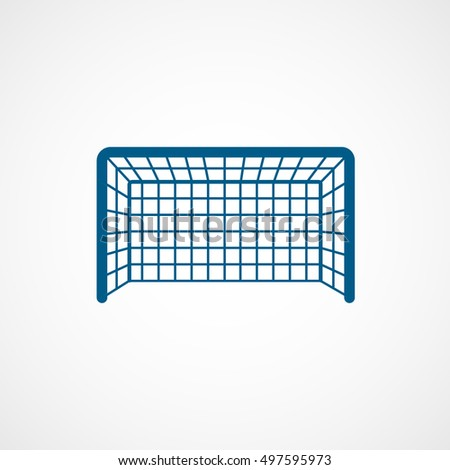 soccer goal blue flat icon on white background ez canvas