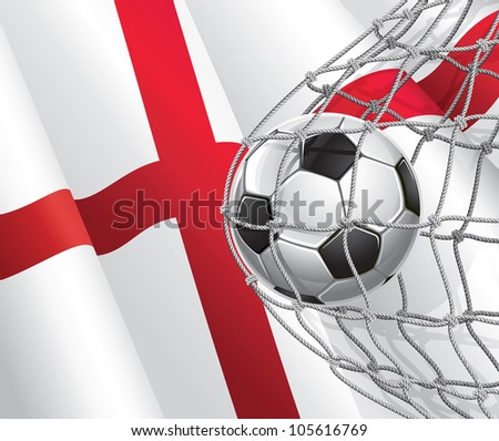 soccer goal english flag with