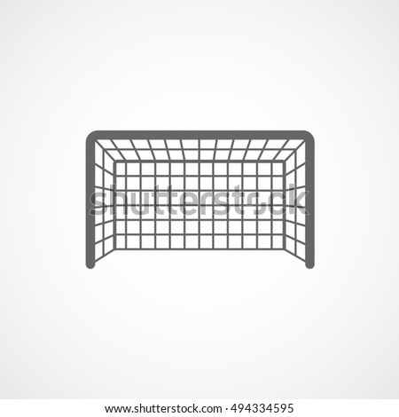 Soccer Goal Flat Icon On White Background