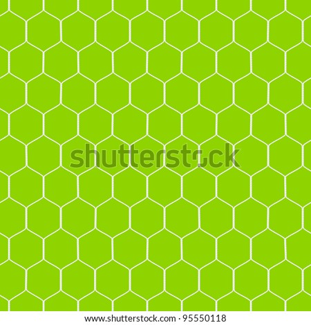 Soccer goal net. Detailed seamless vector.