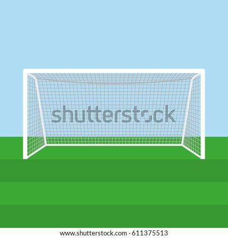 Soccer goal or football goal. Vector illustration.