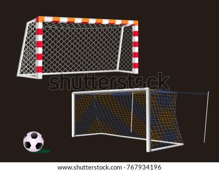 Soccer goal with net.