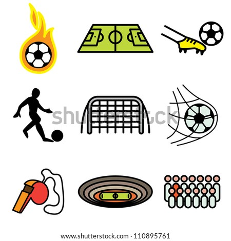 soccer hand drawn icons in