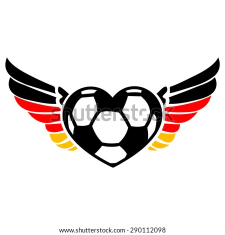 soccer heart  germany  wings