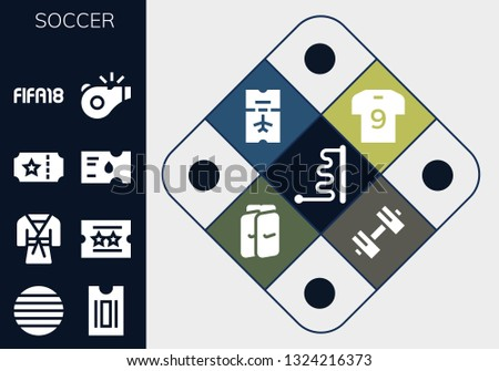 soccer icon set 13 filled