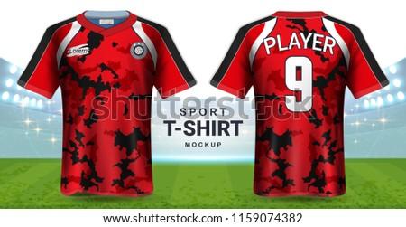 74816009f Soccer Jersey and Sportswear T-Shirt Mockup Template