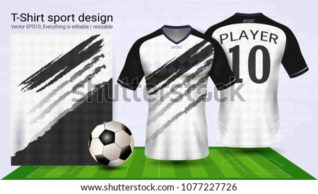 Soccer Jersey And T Shirt Sport Mockup Template Graphic Design For Football Kit Or