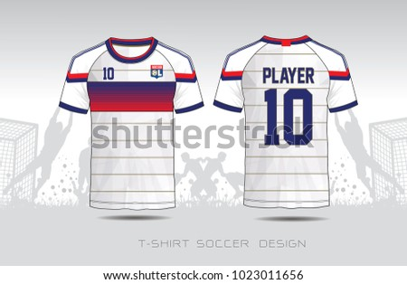 soccer jersey fabic blue and