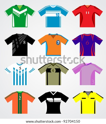 download premium template kaos bola