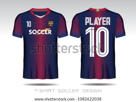 df1523b08 Soccer jersey template Blue and Red layout football sport t-shirt design.  Template front