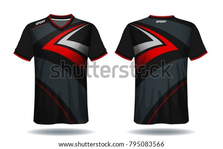 soccer jersey templatered and